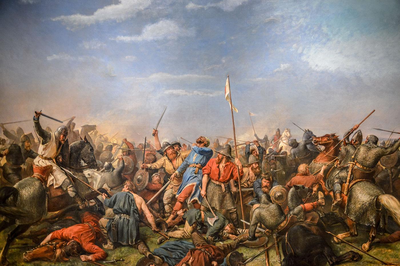 İngilizler ile Vikingler arasında geçen Stamford Köprüsü Muharebesi / 25 Eylül 1066