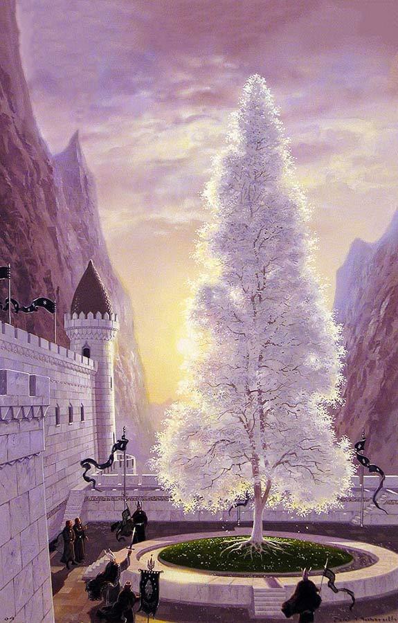 """Ted Nasmith'in fırçasından """"Beyaz Ağaç"""""""