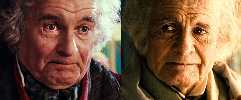 Tek Yüzük'ü Frodo'ya verdikten sonra doğal yaşının etkileri geri gelen Bilbo Baggins