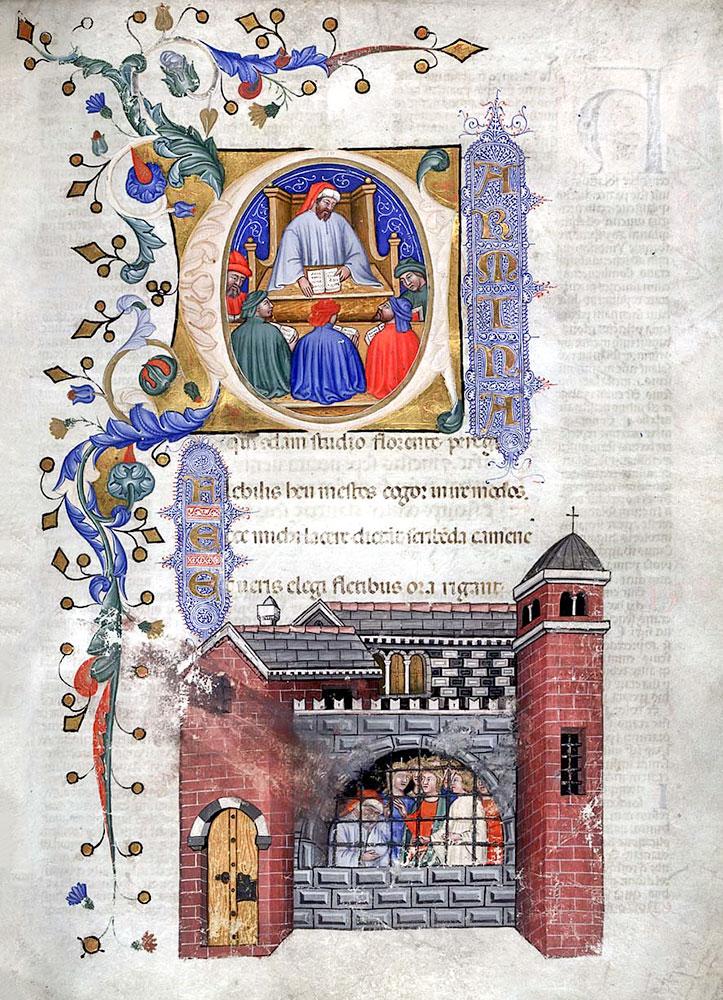 'Felsefenin Tesellisi' kitabından bir sayfa