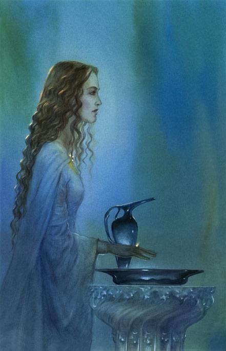 """""""Galadriel'in Büyüsü"""" ile Frodo ve Sam'e yol göstermeyi planlayan Galadriel Hanım"""