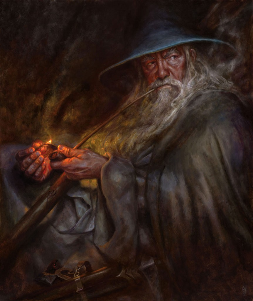 Matthew Steward'ın fırçasından Gri Gandalf