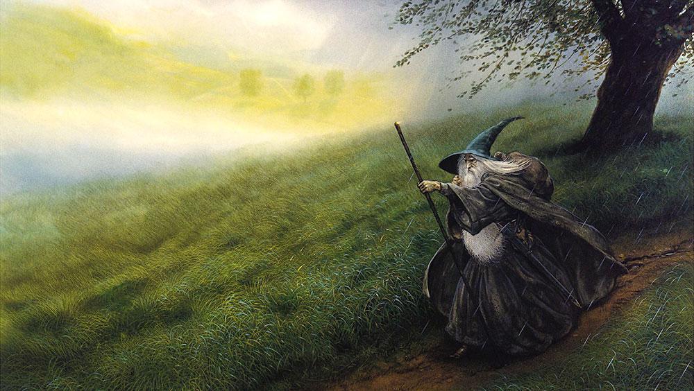 John Howe'un fırçasından Gri Gandalf
