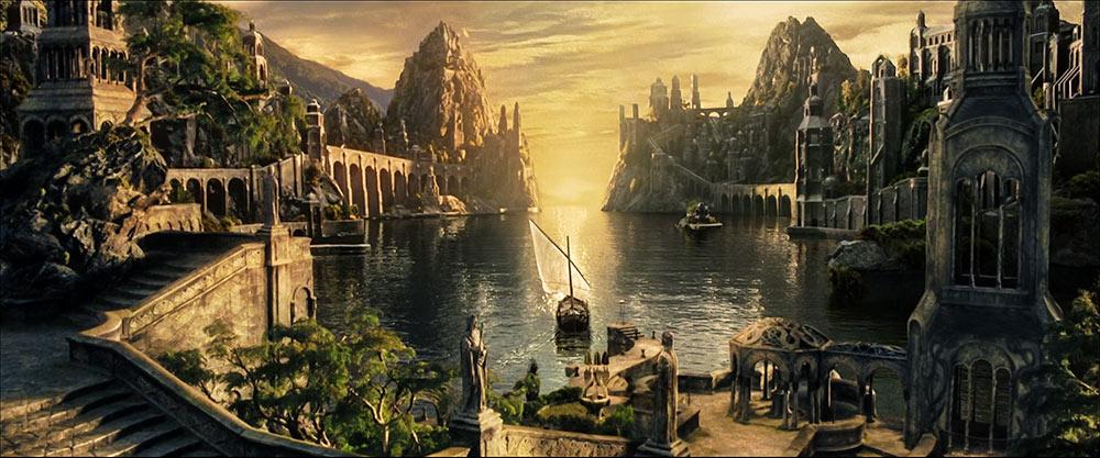 Gri Limanlar'den semavi seyahatine doğru yelken alan Frodo