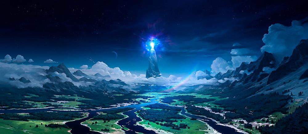 Ainur'un Müziği'nin yansıması olarak yaratılan Arda ve ona ışık versin diye yerleştirilen 2 lambadan biri; Illiun.