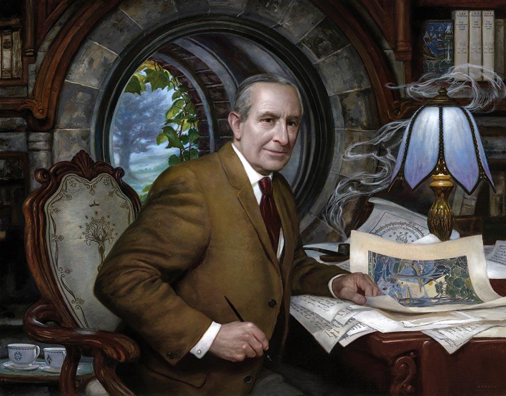 Peri Alemi'nden düşleri ile süslenmiş çalışma odasında J.R.R.Tolkien