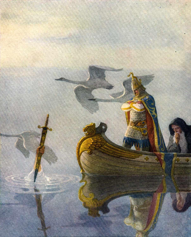 Kral Arthur, Merlin ve Gölün Hanımı - N.C. Wyeth