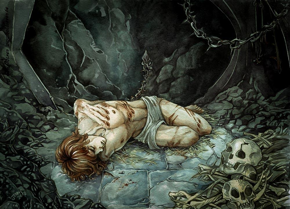 Maedhros'un gerçek tutsaklığı Silmariller'i geri almak üzere ettiği yemineydi. Morgoth/Melkor, ancak gölgeye girenleri tutsak edebilirdi.