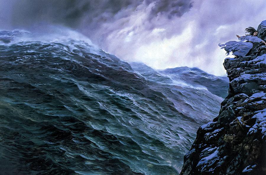 Bazen Ulmo'nun sesi/müziği Arda Denizleri'nin ihtişamlı dalgalarıyla kendini gösteriyordu; bazen de bir suyun tatlı şırıltısında güzelliği ile haşmetini perdeliyordu.