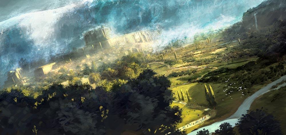 Numenor'un Sular Altında Kalışı / İllustratör: Gaius