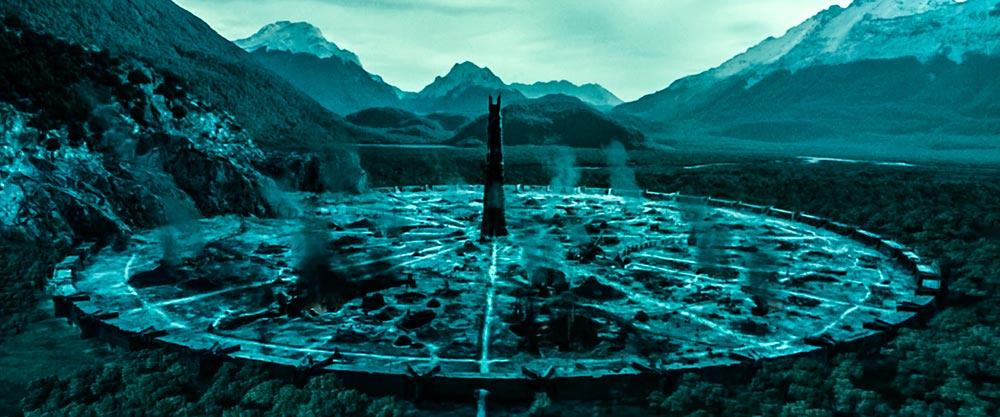 Saruman'ın Uruk-Hai'lerden oluşan bir ordu üretmek adına Ortanc'ı çevreleyen doğaya verdiği zarar