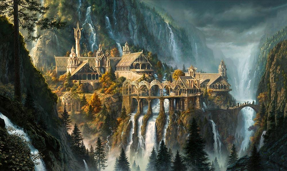 Doğanın yaşatılması ve doğa ile yaşanan/tecrübe edilen hayatın zenginleştirilmesi ile ilgili Elf sanatının başyapıtlarından biri: Ayrıkvadi (Rivendell)