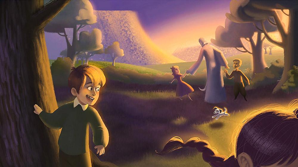 Ay'daki Adam ve Roverandom, Ay çocukları şenliğinde