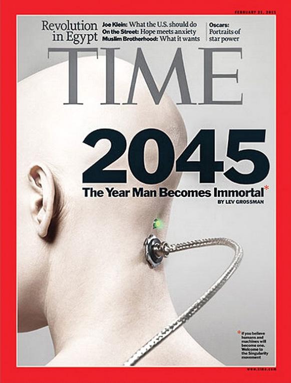 """Time Dergisi'nin 21 Şubat 2011 tarihli """"Ölümsüzlük"""" Kapağı"""