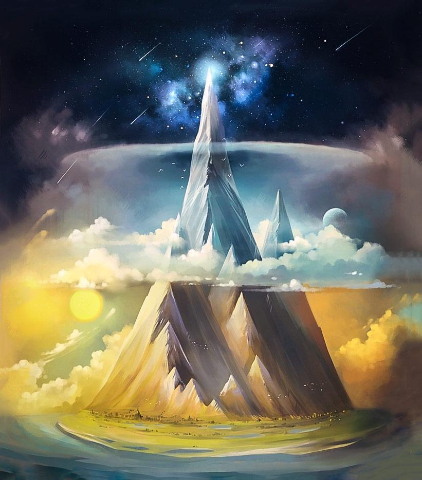 Manwë, Taniquetil Dağı'nın zirvesinde derin düşüncelere dalar ve Müzik'te murad edilen maksatların sırrına varmaya çalışırdı.