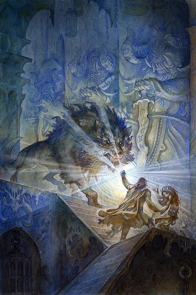 Beren ve Lúthien Carcharoth'a Karşı
