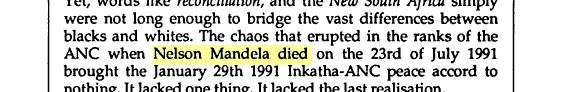 'Nelson Mandela 23 Temmuz 1991'de öldüğünde…' / English Alive / s.54