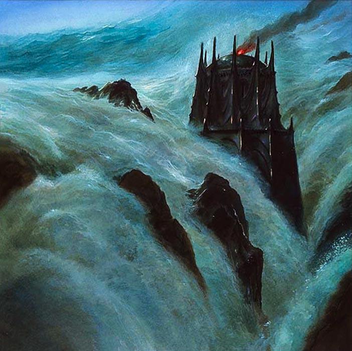 Númenor kıtasının sular altında kalışı