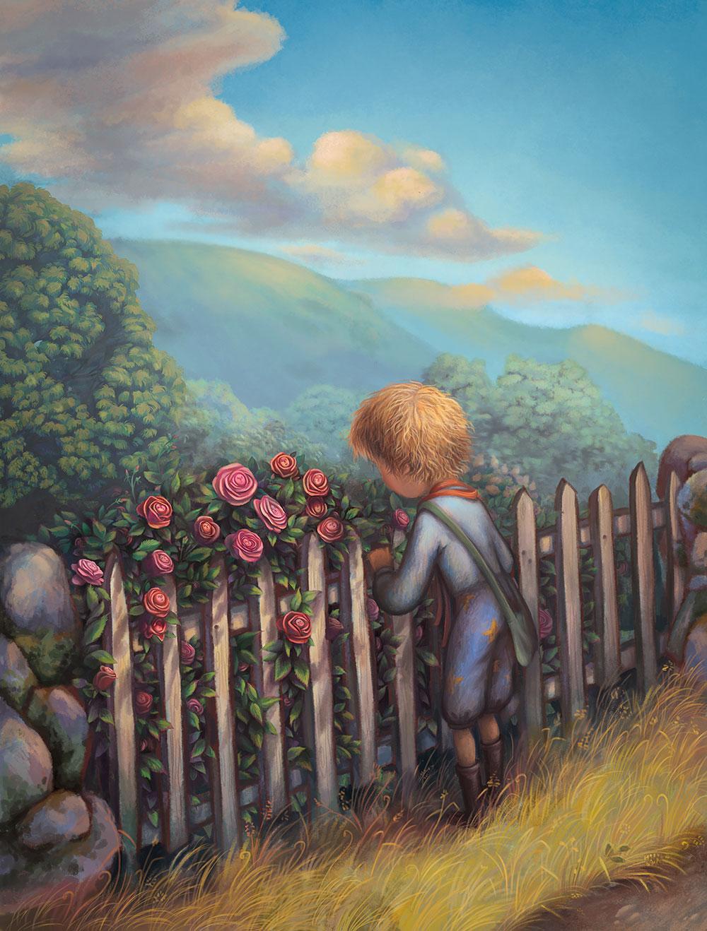 Küçük Prens ve Bahçesindeki Güller