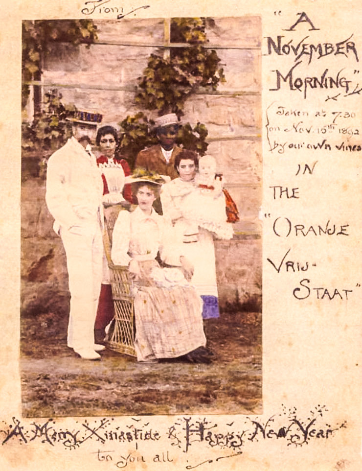 Tolkien Ailesi'nin Güney Afrika'da çekilmiş bir fotoğrafı