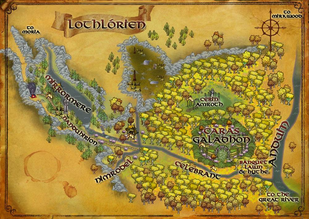 Lothlórien Ormanı Haritası